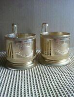 Vintage Russian Soviet podstakannik Dnipropetrovsk tea glass holder Aluminum