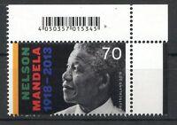 Bund/BRD 3404  Ecke 2 EAN Code (70) -Nelson Mandela- ** Postfrisch 2018