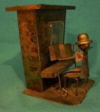 Vintage Copper, Brass Saloon Piano Player Music Box plays the Sting