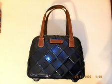 Stratic Leather & More Beauty Case Kosmetiktasche Blau Braun Neu