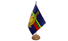 Royal Marines Military Table Flag with Wooden Stand