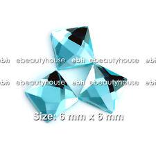 20 Pcs Nail Art Decoration Reflection Square Glass Rhinestones #EG-162A