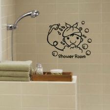 DIY Bathroom Wall Sticker Decals Shower Door Glass-proof Water Removable Decor