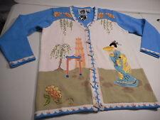 Geisha Japanese Sweater Storybook Knits NWT Women's Medium