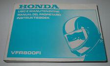 Betriebsanleitung Honda VFR 800 FI Manual Del Propietario Instruktieboek 2000!