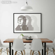 Liam Gallagher Stencil - Reusable Wall Stencil - Wall Art - DIY - Icons - 10163