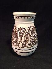 "Wedgwood Brown Floral Design Vase Planter 5-1/2"" Tall"