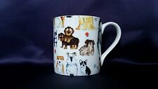Bone China Mug Dogs Lovers Pattern Hand Decorated in Wales Gift