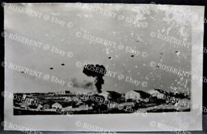 1941 Battle of Crete - German Paratroops & JU 52 crashed - Real Photo Postcard