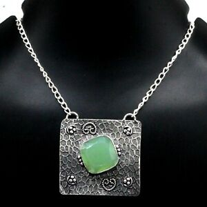 """925 Sterling Silver Chalcedony Gemstone Handmade Jewelry Necklaces S-17-18"""""""