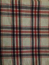Blue Red and White Check Fabric Material 150cm wide