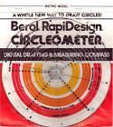 Berol Rapidesign Circleometer - Drafting Measuring Compass - Metric - RC-4 NOS