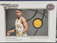 CHARLIE WARD 2001 FLEER GREATS OF THE GAME FEEL THE GAME HARDWOOD CLASSICS COURT
