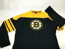 NEW Reebok Boston Bruins Striped Retro Long Sleeve T Shirt Size XLarge FREESHIP