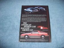 "1984 Dodge Daytona Turbo Z Vintage Ad ""The American Sports Car Has Grown Up"""