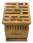 """Wusthof 25 Slot Wooden Knife w/Swiveling Base, No Knives Included """"Block Only"""""""