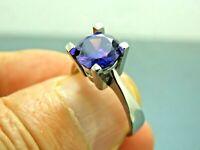 Turkish Handmade Jewelry 925 Sterling Silver Amethyst Stone Women Ring Sz 8