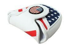 Craftsman USA AMERICA MALLET Putter Cover Headcover For Scotty Odyssey US STOCK