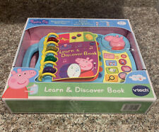 New Peppa Pig Toy Learn And Discover Book Multi-Color Unisex Interactive Vtech