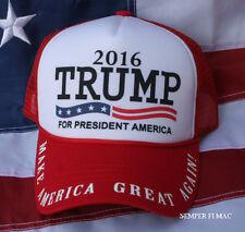 # DONALD TRUMP 2016 PRESIDENTIAL US FLAG HAT CAP PIN US PRESIDENT PRESIDENTIAL