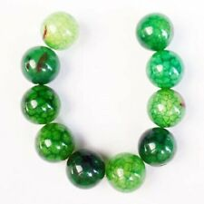 Round Ball Pendant Bead D65883 10pcs/set 10mm Green Dragon Veins Agate