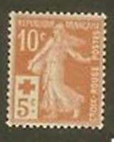 """FRANCE STAMP TIMBRE147 a """" CROIX ROUGE SEMEUSE ROUGE-ORANGE """" NEUF xx LUXE"""