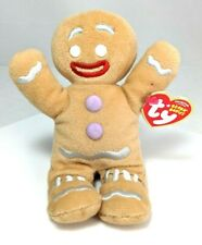 NEW TY Original Beanie Babies Collection Shrek the Halls Gingy Gingerbread Doll