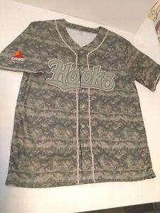 Houston Astros Corpus Christi Hooks Military Camouflage SGA Jersey Size XL