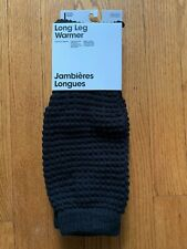 Vtg. AMERICAN APPAREL Black Leg Warmers ONE SIZE NEW in Package