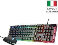 Trust Gaming GXT 838 Azor Tastiera illuminata colore LED  Mouse da gioco preciso