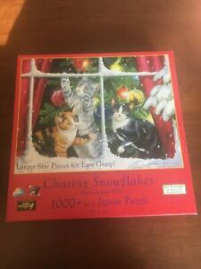 """1000 Piece """"Chasing Snowflakes"""" by Persis Clayton Weirs Large Piece Jigsaw Puzzl"""