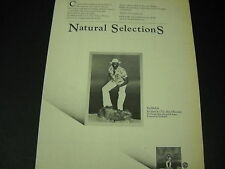 Taj Mahal paraphrases Charles Darwin with Natural Selections 1978 Promo Ad Mint