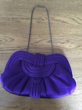 Purple Satin Clutch Bag - Star Julien Macdonald