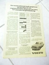 Volvo 244 DL brochure catalogue commercial sales marketing