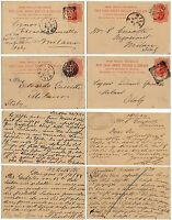 481 - Gran Bretagna - Lotto di 4 interi postali per Milano, 1894