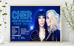 Cher Signed 2019 Tour Poster Professional Grade Gloss Print Limited Edition HD