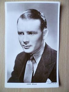 Picturegoer Real Photo Postcard- JOHN MILLS, Gaumont British Studios