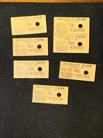 Amazing Collection Vintage Hershey Park 5 Cent Ride Tickets Monorail Amusement !