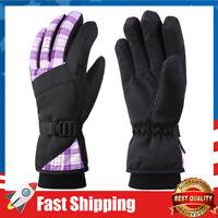 Waterproof & Warm Women Winter Ski Snowboard Gloves w/ 3m Thinsulate for Sport-S
