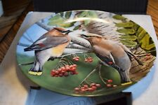 Vintage Knowles Porcelain Plate The Cedar Waxwing by Kevin Daniel In Box