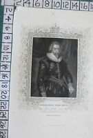 c1850 ANTIQUE PRINT ~ WALTER FIRST LORD ASTON