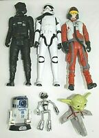 STAR WARS  action figures + hasbro + lot of 6 R2-D2, YODA + excellent condition