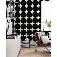 Black Giant Dots Dot Pattern Black and White removable wallpaper Modern