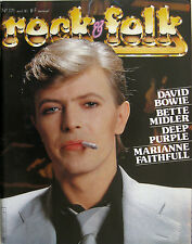 ROCK & FOLK 171 1981 David Bowie Deep Purple Marianne Faithfull Bette Midler U2