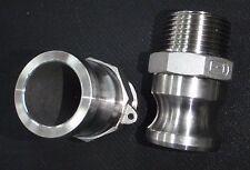 Stainless Steel Cam Lock Adapter 1 Male 1 Npt Male Nipple Cl24 100