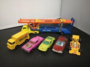 B928-CORGI HOYNOR MKII CAR TRANSPORTER AND FIVE VEHICLES