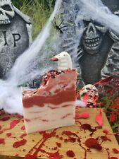 Bite Me Vampire Fangs Teeth Blood Halloween Themed Bar Soap cold process