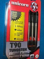 FREE SHIP Unicorn T90 25G Steel Tip Darts 90% Tungsten w/Super value Bonus Pack