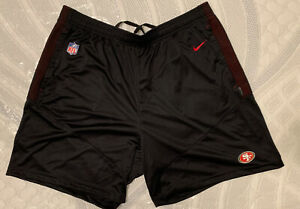 Nike NFL San Francisco 49ers Mens Large Team Issued Shorts 2017 Authentic
