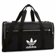 NEW ADIDAS ORIGINALS TREFOIL DUFFEL SHOULDER BAG #CW0618 BLACK